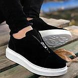 Мужские кроссовки с замком черные, фото 2