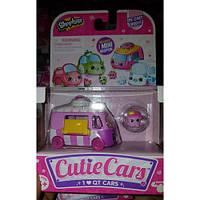 Мини-машинка для девочек SHOPKINS CUTIE CARS S1 с мини-шопкинсом 56579