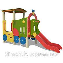 Ігровий комплекс Паровозик з гіркою для дитячих ігрових майданчиків KidSport
