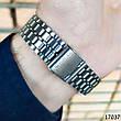 Часы мужские в стиле Casio. Мужские наручные часы цвета серебро. Часы с черным циферблатом Годинник чоловічий, фото 2