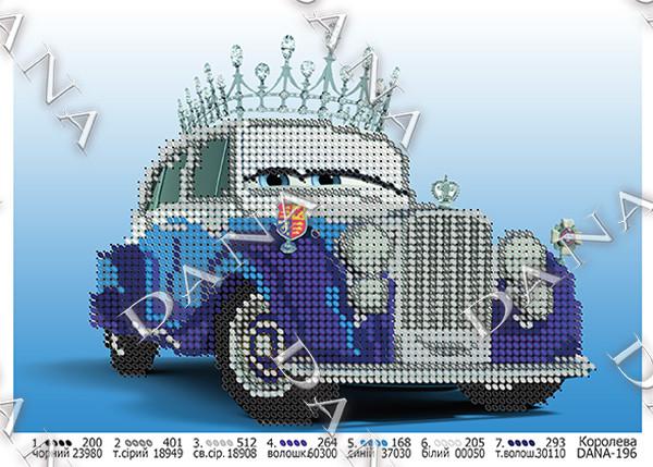 Схема для вышивки бисером Королева