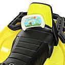 Детский квадроцикл M 3999 EBLR-6, 4 мотора, Пульт 2,4G, EVA, кожаное сиденье, детский электромобиль, желтый, фото 4