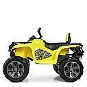 Детский квадроцикл M 3999 EBLR-6, 4 мотора, Пульт 2,4G, EVA, кожаное сиденье, детский электромобиль, желтый, фото 5