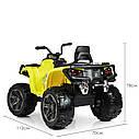 Детский квадроцикл M 3999 EBLR-6, 4 мотора, Пульт 2,4G, EVA, кожаное сиденье, детский электромобиль, желтый, фото 6