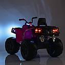 Детский квадроцикл M 3999 EBLR-6, 4 мотора, Пульт 2,4G, EVA, кожаное сиденье, детский электромобиль, желтый, фото 7