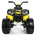 Детский квадроцикл M 3999 EBLR-6, 4 мотора, Пульт 2,4G, EVA, кожаное сиденье, детский электромобиль, желтый, фото 2