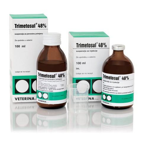 Триметосул 48% 200 мл оральный раствор, комплексный ветеринанрный антибактериальный препарат