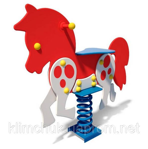 """Качалка  (гойдалка) на пружині """"Поні"""" для дитячих ігрових майданчиків KidSport"""