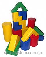 Мягкий конструктор из модулей Строитель 7 для детской игровой зоны отдыха