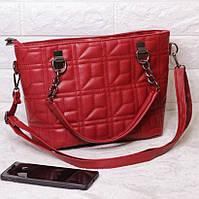 Вместительная сумка через плечо женская Della розовый красный