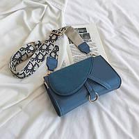 Стильная женская сумка клатч Sable широкий ремень