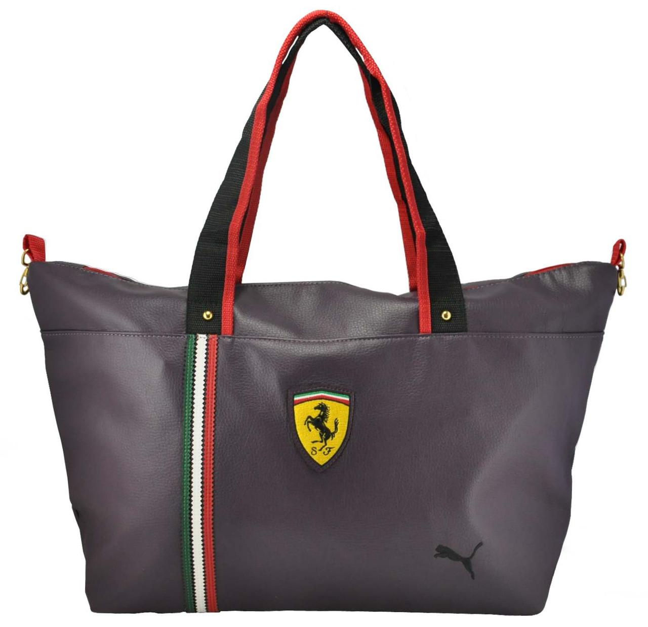 40d62bb10f17 Стильная спортивная сумка Puma Ferrari фиолетовая реплика - Интернет магазин