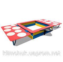 Пісочниця з кришкою 1.6х1.6 м. для дитячих ігрових майданчиків KidSport