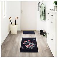 IKEA LOVNS Ковер с коротким ворсом, черный, разноцветный (904.188.19)