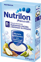 Каша молочная Nutrilon пшенично-рисовая с яблоком и грушей 225г.
