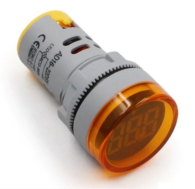 Вольтметр AC 22мм 60-450В - желтый