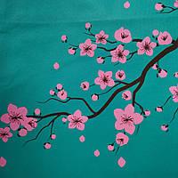 Эко сумка  хозяйственная с замочком сакура (спанбонд), фото 1