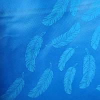 Эко сумка  хозяйственная с замочком  перо синий фон (спанбонд), фото 1