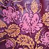 Эко сумка  хозяйственная с замочком бордо роспись (спанбонд)