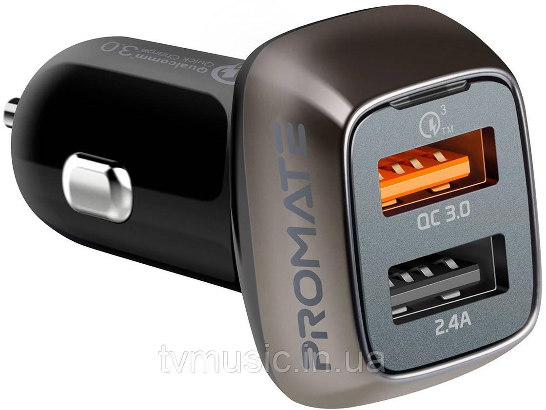 Зарядное устройство для автомобиля Promate Scud-30 Black