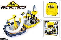 Набор-чемодан строительная площадка для детей модель P866-A,цвет сине-жёлтый,в коробке с атрибутами для игры.