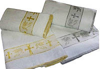 Полотенце для крещения Золото Серебро