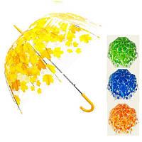 """Зонт-трость полуавтомат """"Осень"""" глубокий r60см 8сп 83143 , Stenson"""