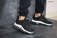 Мужские кроссовки в стиле Nike Air Max 720, текстиль, пена с силиконом, черные с белым 42 (26,5 см)