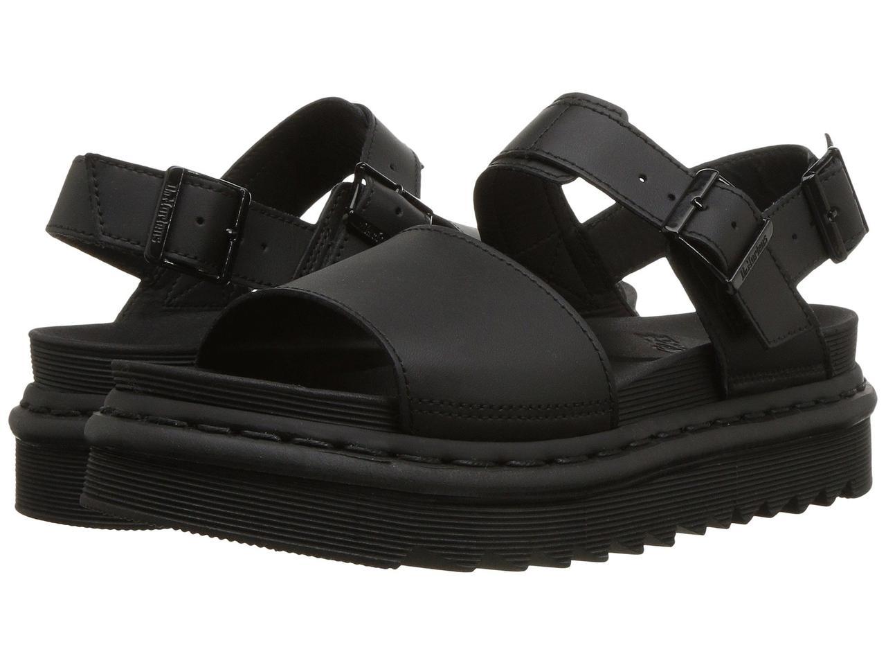 Сандали/Вьетнамки (Оригинал) Dr. Martens Voss Black Hydro Leather