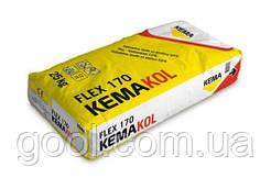 Клей для плитки Кема Kemakol Flex 170 под электрический тёплый пол 25 кг.