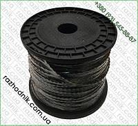Леска для триммера в бухте 3мм (Плетенка Черная -150 м)