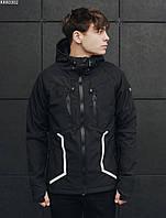 Мужская летняя куртка с капюшоном Staff soft shell black line