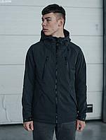 Мужская летняя куртка с капюшоном Staff soft shell grafit ros