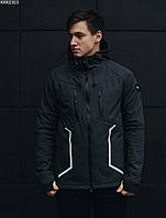 Мужская летняя куртка с капюшоном Staff softs hell grafit line