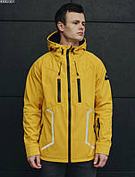 Мужская летняя куртка с капюшоном Staff soft shell yellow line