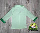 Стильный пиджак для мальчика зеленый с отворотами на рукавах, фото 2