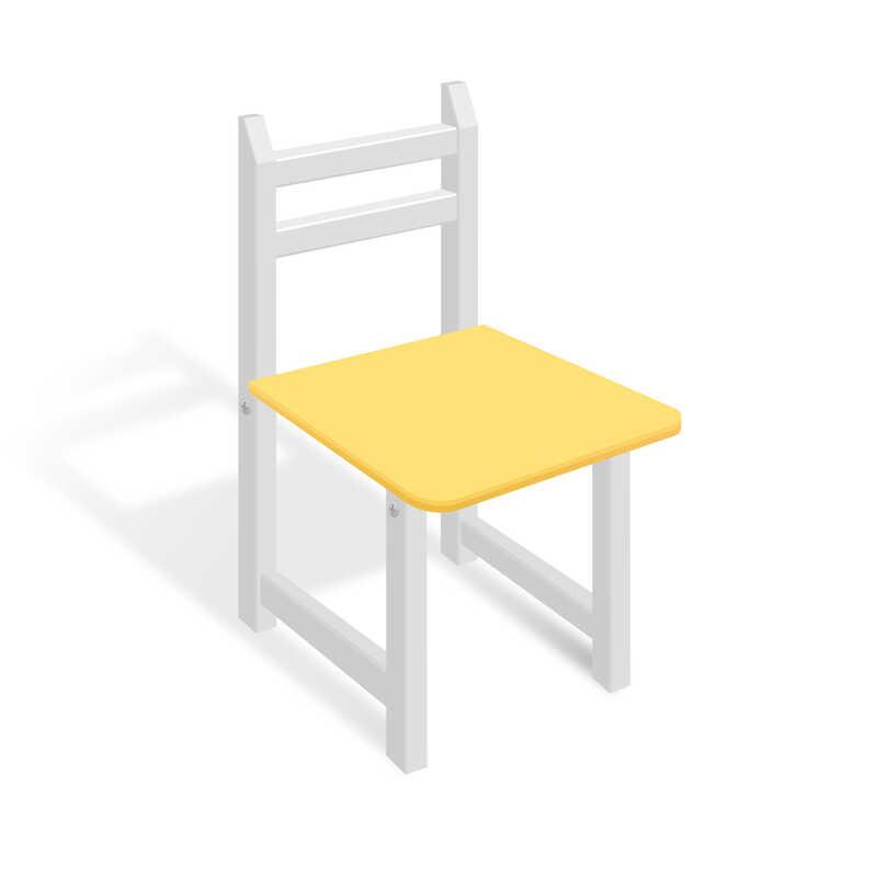 Гр Стульчик СЦ 005 цвет бело-жёлтый, 32см