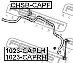 Втулка стабилизатора CHEVROLET CAPTIVA (C100, C140) 2006- г.