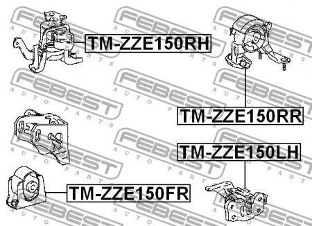Подушка двигателя правая TOYOTA AURIS (_E15_) 2006-2012 г.