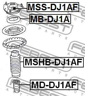 Пыльник амортизатора MITSUBISHI ECLIPSE IV (DK_A) 2002-2012 г.