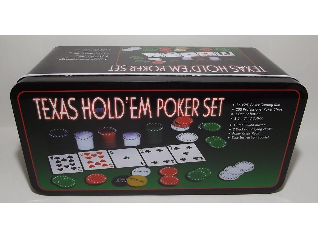 Покер метал 200 фишек
