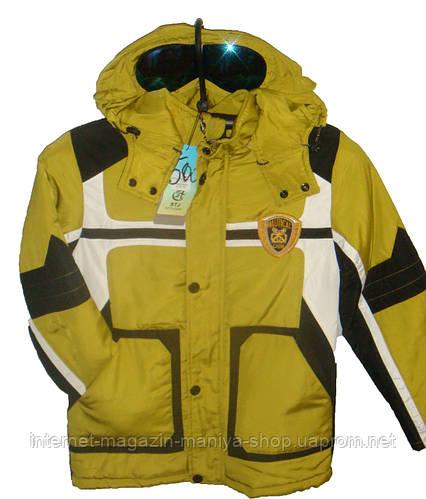 Мужская куртка подросток c очками
