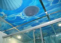 Стеклянные потолки с печатью
