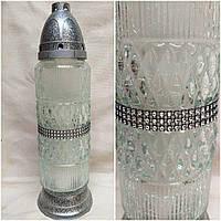 Стильна лампадка, скло та пластик, свічка-вкладка, Польша, вис. 36 см., 280/245 (цена за 1 шт. + 35 гр), фото 1