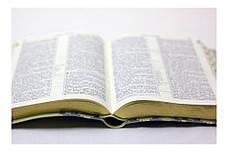 Біблія середнього формату (салатна, шкірзам, золото, індекси, без застібки, 15х20), фото 2