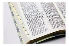 Біблія середнього формату (салатна, шкірзам, золото, індекси, без застібки, 15х20), фото 3