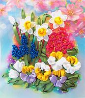 Набор для вышивки лентами Первоцветы НЛ-4015