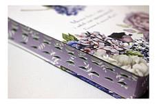 Біблія середнього формату (весняні квіти, шкірзам, фіолетовий обріз, індекси, без застібки, 15х20), фото 2
