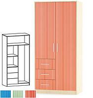 Шкаф 2Д+3Ш Симба (Мебель-Сервис)