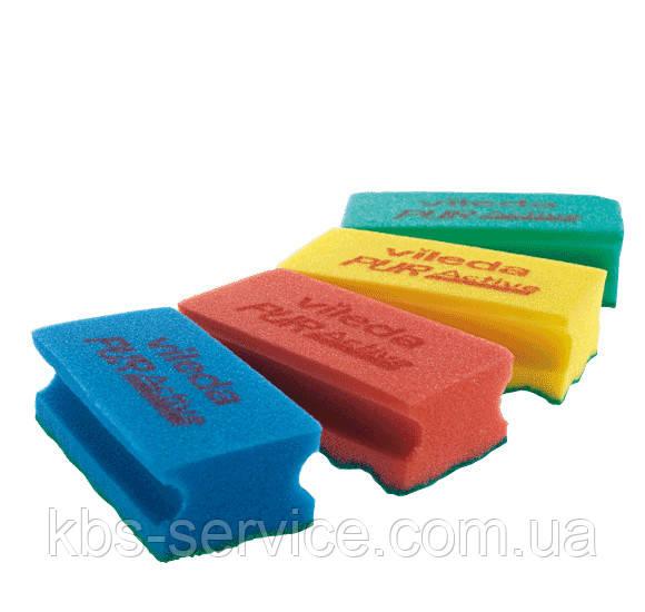 ПурАктив. Уникальная губка для деликатных поверхностей. 7 х 15 см, Vileda Professional